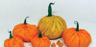 tissue pumpkins