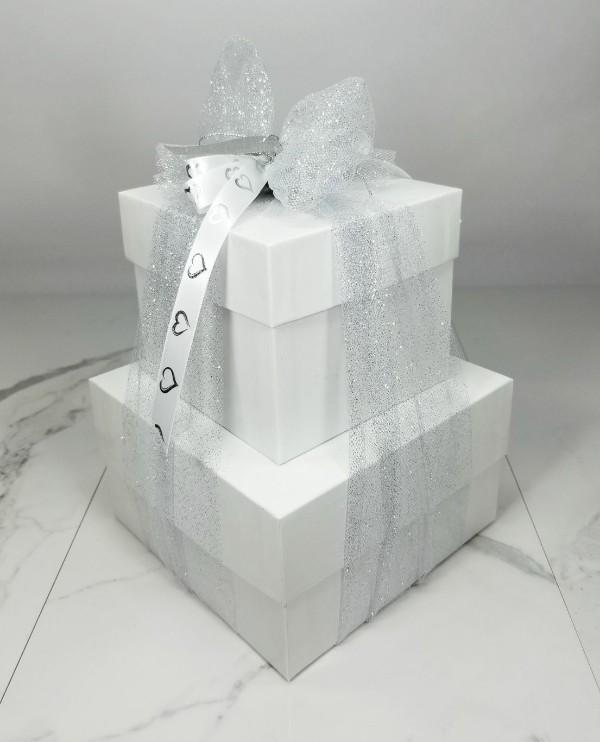 White 2 piece gift boxes