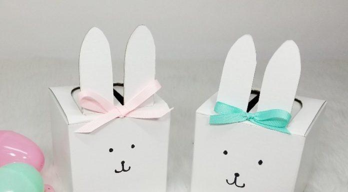 Easter bunny treat box