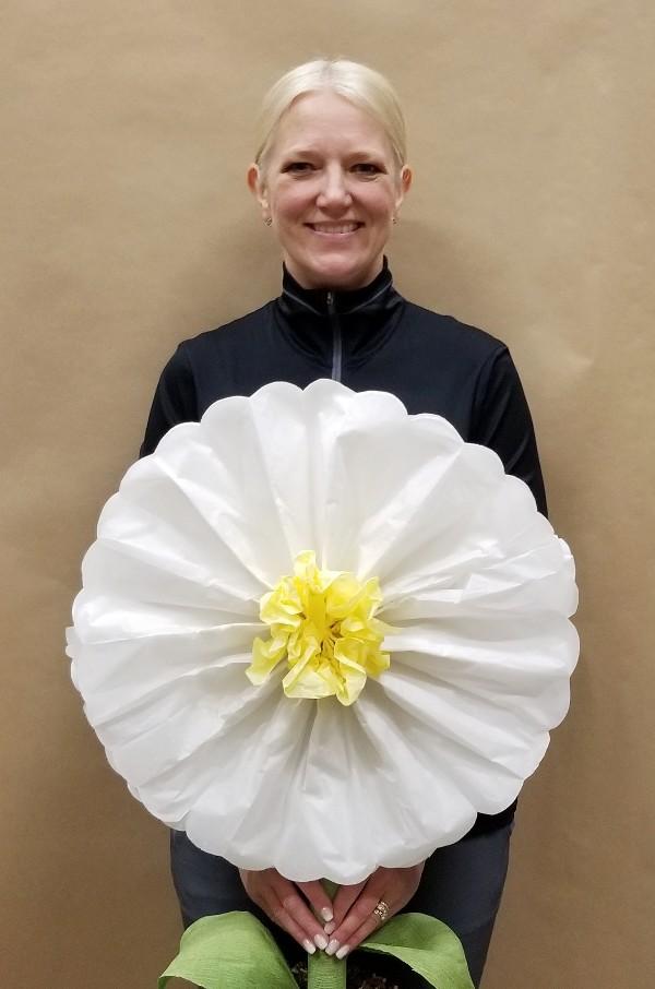 giant tissue paper daisies