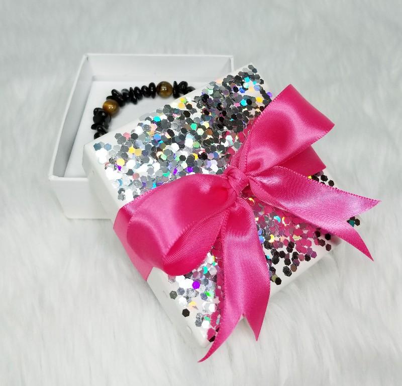 diy glitter gift box