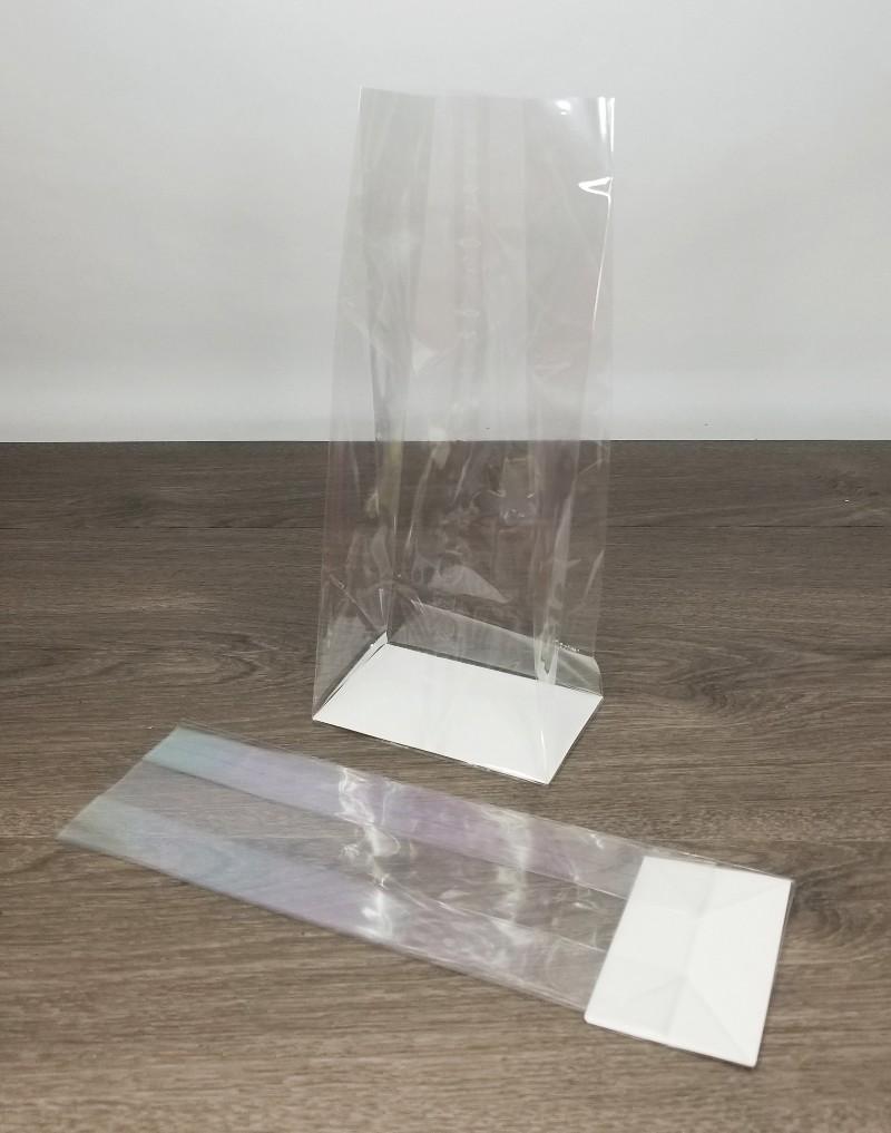 Clear hardbottom cello bags
